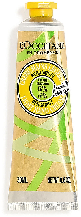 Крем для рук с маслом ши и бергамотом - L'Occitane Shea Butter Bergamot Light Hand Cream