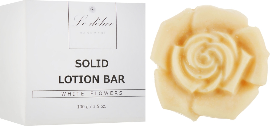 Натуральный твердый лосьон для тела - Le Delice Solid Lotion Bar White Flowers
