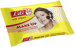 Духи, Парфюмерия, косметика Влажные салфетки для снятия макияжа - Lili Make-Up Wet Wipes