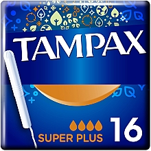 Парфумерія, косметика Тампони з аплікатором, 16 шт - Tampax Super Plus Duo