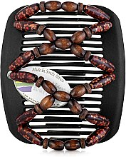 Духи, Парфюмерия, косметика Заколка для волос Beada 013, на черных гребнях - African Butterfly Hair Clip