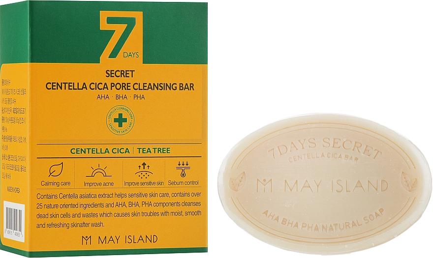 Мыло для проблемной кожи - May Island 7 Days Secret Centella Cica Pore Cleansing Bar