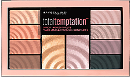 Духи, Парфюмерия, косметика Палетка для макияжа - Maybelline New York Total Temptation Eyeshadow + Highlight Palette