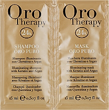 Духи, Парфюмерия, косметика Набор - Fanola Oro Therapy (shm/15ml + mask/15ml)