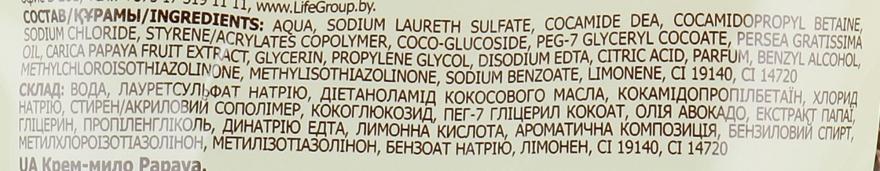 """Крем-мыло с увлажняющим молочком авокадо """"Папайя"""" - Fresh Juice Papaya (сменный блок) — фото N3"""