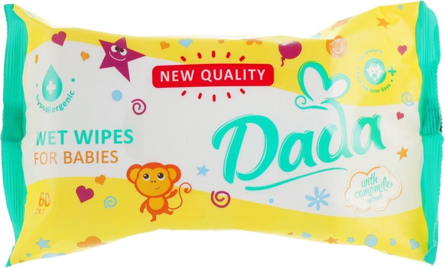 Влажные салфетки для детей экстрактом ромашки - Dada With Camomile Extract Wipes