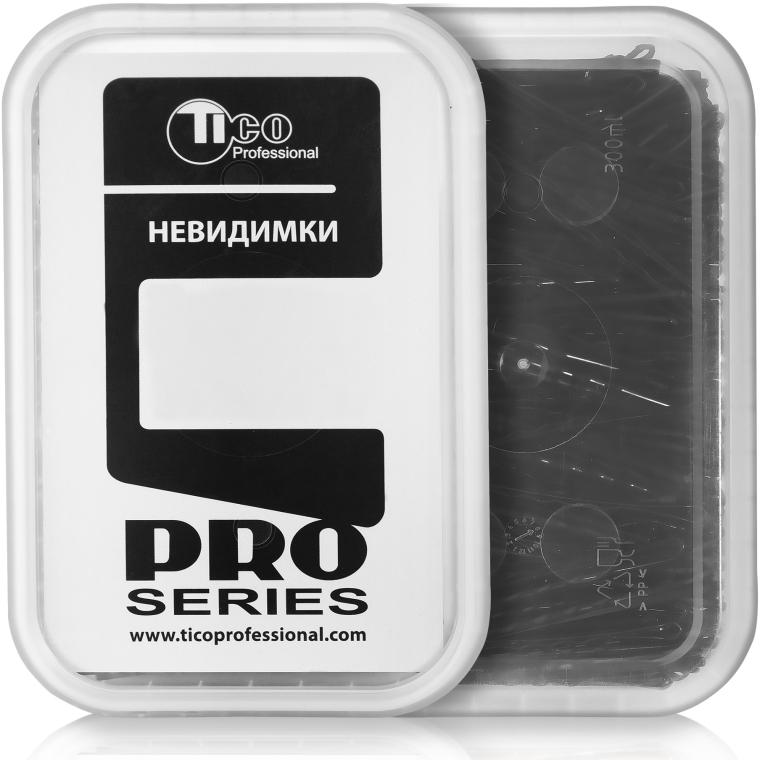Заколки-невидимки волнистые 60 мм, черные - Tico Professional
