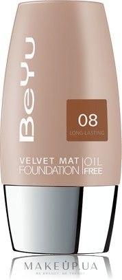 Тональный крем с матирующим эффектом - BeYu Velvet Mat Foundation — фото 08 - White Coffee