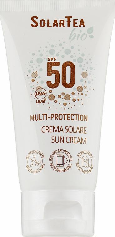Крем мультизащитный для лица и деликатных зон с высоким уровнем защиты от солнца - Bema Cosmetici Solar Tea Bio Multi-Protection Sun Cream SPF 50