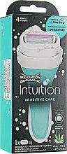 Духи, Парфюмерия, косметика Станок +1 сменное лезвие - Wilkinson Sword Women Intuition Sensitive
