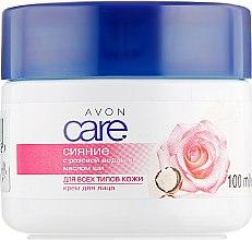 Духи, Парфюмерия, косметика Осветляющий крем для лица с розовой водой и маслом ши - Avon Care