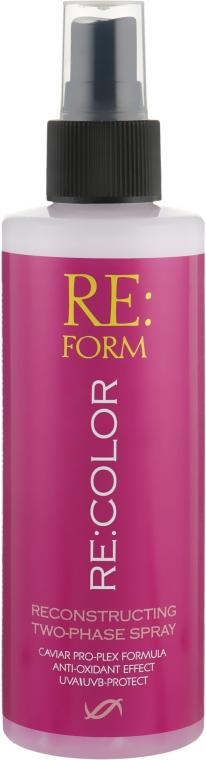 """Двухфазный спрей для восстановления окрашенных волос """"Сохранение цвета"""" - Re:form Re:color Reconstructing Two-Phase Spray"""