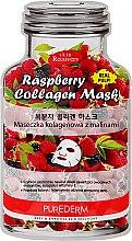 Духи, Парфюмерия, косметика Тканевая маска с экстрактом малины - Purederm Raspberry Collagen Mask