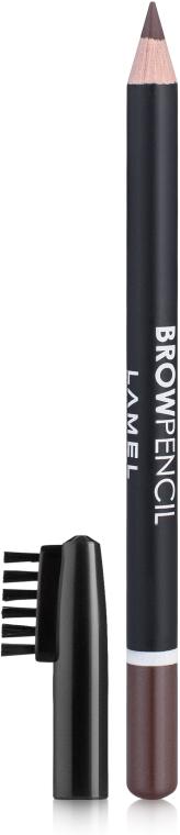 Карандаш для бровей со щеточкой - Lamel Professional Brow Pencil