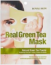 Духи, Парфюмерия, косметика Маска для лица с зеленым чаем - Royal Skin Real Green Tea Mask