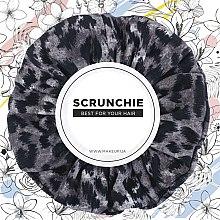 """Духи, Парфюмерия, косметика Резинка для волос трикотаж, леопард серый """"Knit Fashion Classic"""" - Makeup Hair Accessories"""