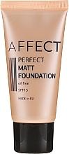 Духи, Парфюмерия, косметика Матирующий тональный крем для лица - Affect Cosmetics Perfect Matt Foundation