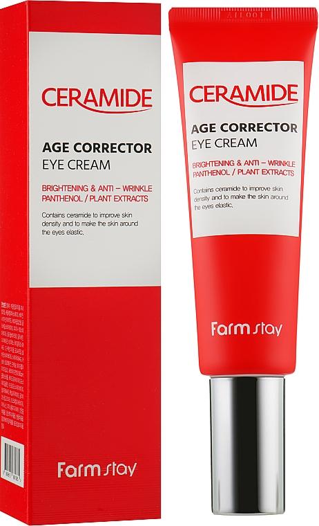 Крем с церамидами для кожи вокруг глаз - Farmstay Ceramide Age Corrector Eye Cream