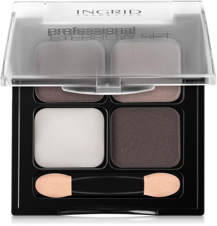 Воск и тени для бровей - Ingrid Cosmetics Professional Eyebrow Set