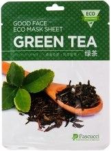 Духи, Парфюмерия, косметика Маска для лица с экстрактом зеленого чая - Amicell Pascucci Good Face Eco Mask Sheet Green Tea