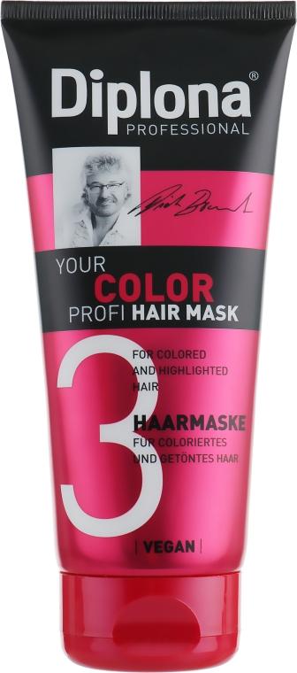 Маска для окрашенных и светлых волос - Diplona Professional Your Color Profi Mask