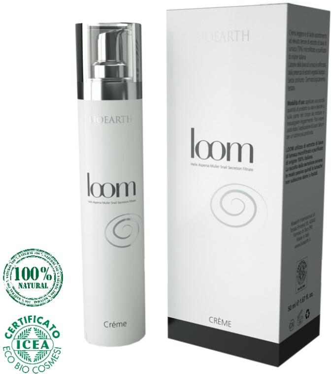 Крем для лица с экстрактом слизи улитки (79%) - Bioearth Loom Snail Secretion Light Face Cream