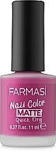 Духи, Парфюмерия, косметика Лак для ногтей с матовым эффектом - Farmasi Nail Color Matte Nail Lacquer
