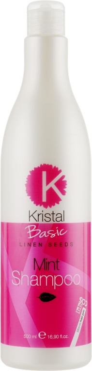 Мятный шампунь для волос - BBcos Kristal Basic Mint Shampoo