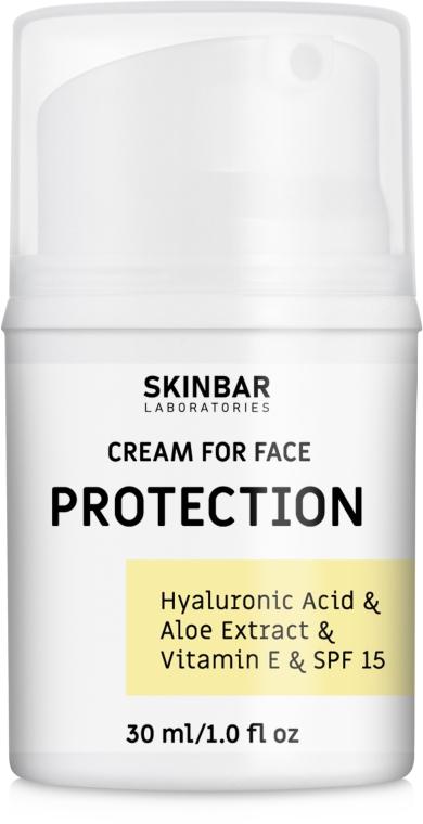 "Крем для лица увлажняющий с SPF 15 ""Protection"" - SKINBAR Hyaluronic Acid & Vitamin E & SPF 15 Face Cream"