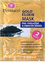 Духи, Парфюмерия, косметика Омолаживающая маска - Dermacol Gold Elixir Caviar Face Mask
