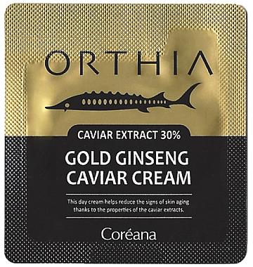 Крем на основе золотого женьшеня - Coreana Orthia Gold Ginseng Caviar Cream (пробник)