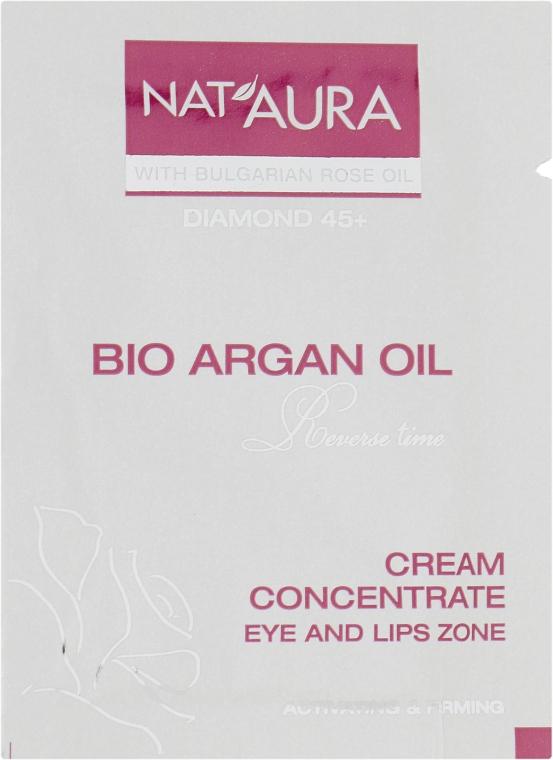 Крем для контура глаз и губ - BioFresh Nat'aura Diamond 45+ Cream Concentrate Bio Argan Oil (пробник)