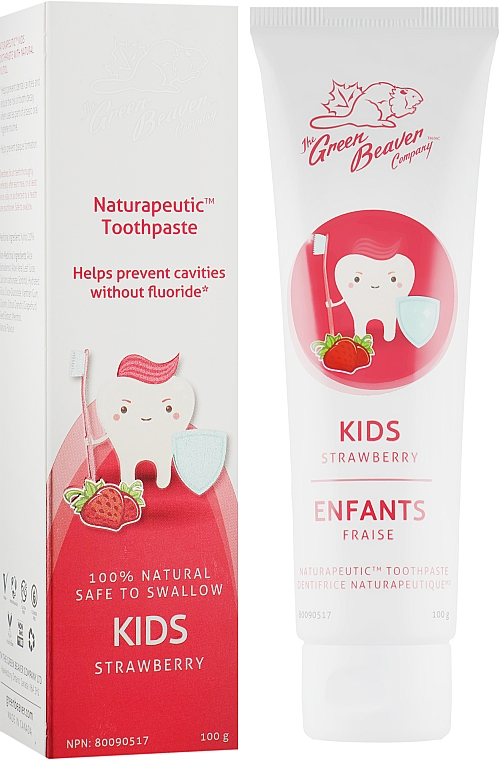 Зубная паста детская со вкусом клубники - Green Beaver Naturapeutic Kids Toothpaste