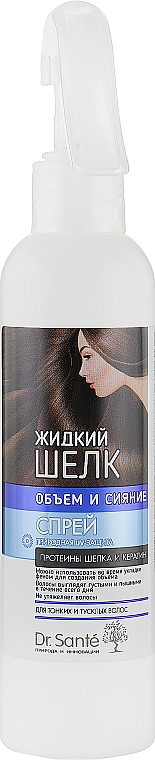 "Спрей для волос ""Объем и Сияние"" - Dr. Sante Silk Care Spray"
