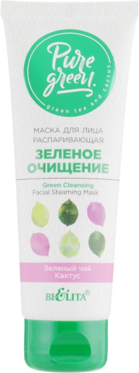 """Маска для лица распаривающая """"Зеленое очищение"""" - Bielita Pure Green"""