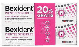 Духи, Парфюмерия, косметика Набор - Isdin Bexident Duo Sensitive Toothpaste(toothpaste/2x75ml)