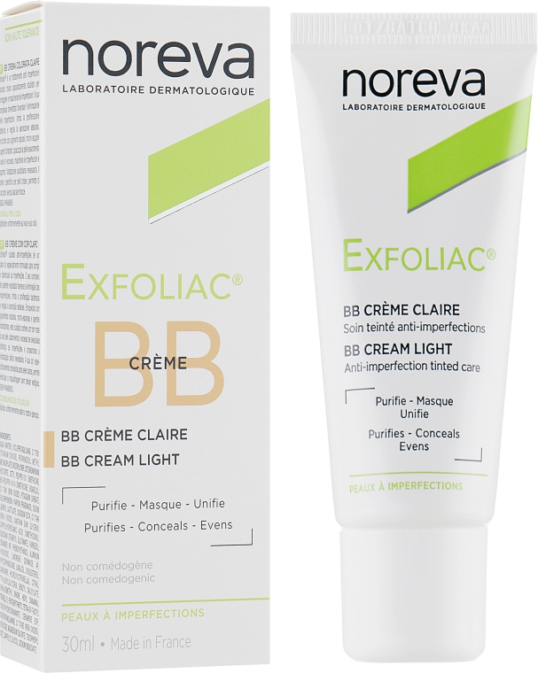 Корректирующий крем для смуглой кожи - Noreva Laboratoires Exfoliac BB Cream Anti-imperfection Tinted Care