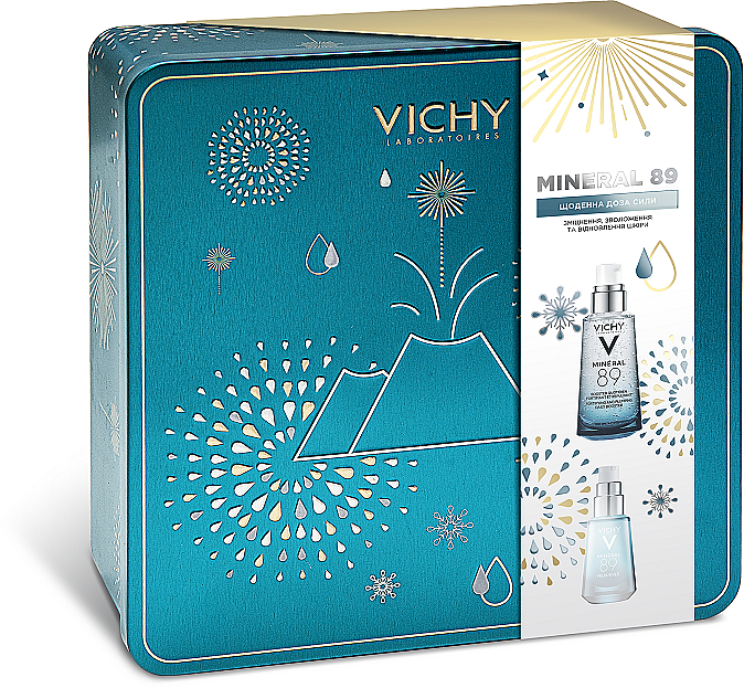 Набор для комплексного ухода за кожей - Vichy Mineral 89 New Year (gel/15ml + booster/gel/50ml) — фото N1