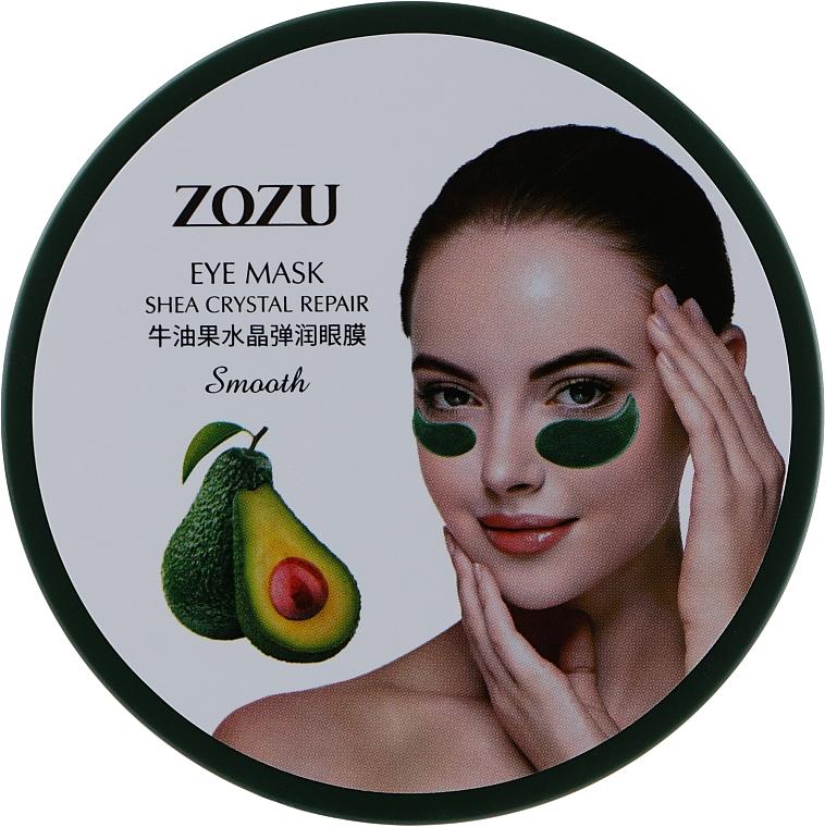 Гидрогелевые патчи под глаза с экстрактом авокадо и маслом Ши - Zozu Eye Mask Shea Crystal Repair Smooth