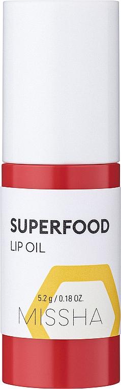 Масло для губ с экстрактом меда - Missha Super Food Lip Oil Honey