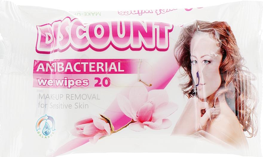 Салфетки влажные для снятия макияжа, 20 шт - Discount