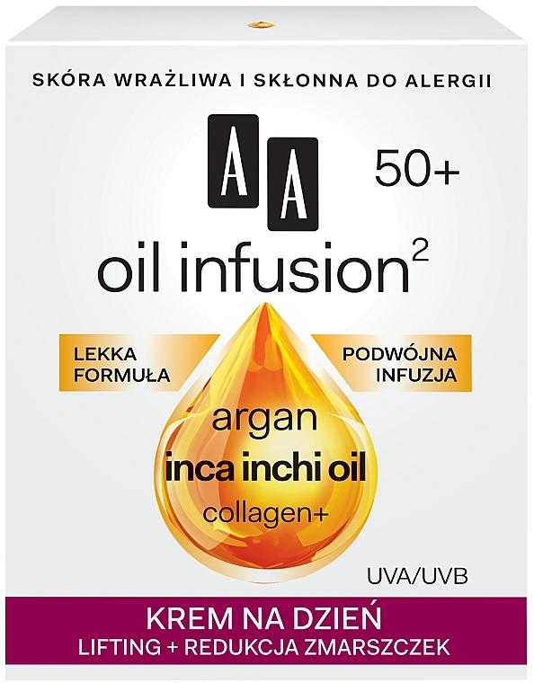 Дневной лифтинг крем от морщин - AA Oil Infusion Day Lifting Cream 50+