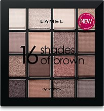 Палетка теней для век - Lamel Professional Eyeshadow 16 Shades Of Brown — фото N2