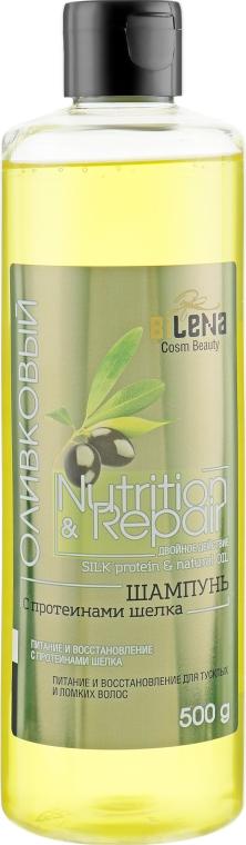 "Шампунь ""Оливковый"" с протеинами шелка - Bilena Silk Protein & Natural Extract"