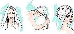 Полотенце-тюрбан для сушки волос, пудровое - MakeUp — фото N4