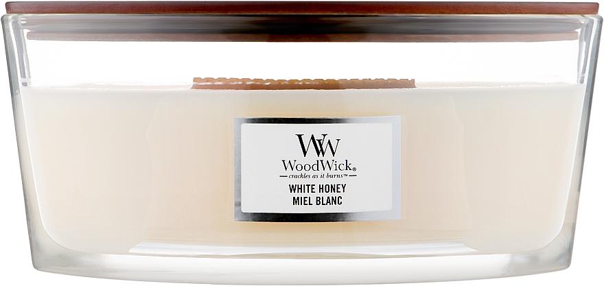Ароматическая свеча в стакане - WoodWick Hourglass Candle White Honey