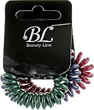 Духи, Парфюмерия, косметика Набор резинок для волос, 405004, бордовая+зеленая+темно-синяя - Beauty Line