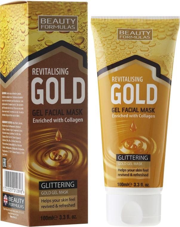 Маска для глубокой очистки - Beauty Formulas Gold Gel Facial Mask