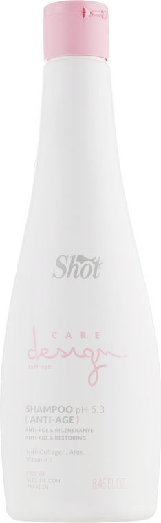 Шампунь восстанавливающий с коллагеном - Shot Care Design Anti-Age Shampoo