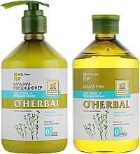 Духи, Парфюмерия, косметика Набор для сухих волос - O'Herbal (shmp/500ml + con/500ml)